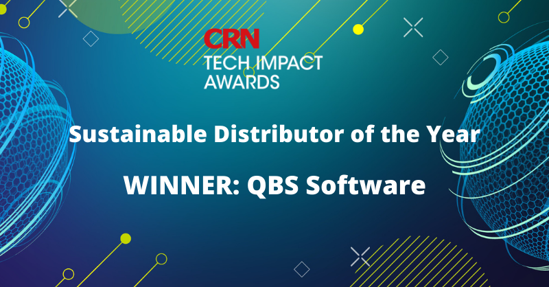 QBS Wins Sustainable Distributor Of The Year At CRN Tech Impact Awards
